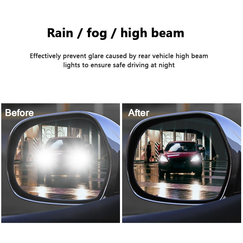 2PCS Anti-fog Car Mirror Window Clear Film Anti Car Rearview Mirror Protective Film Waterproof Rainproof Car Sticker New/2PCS Anti-fog C